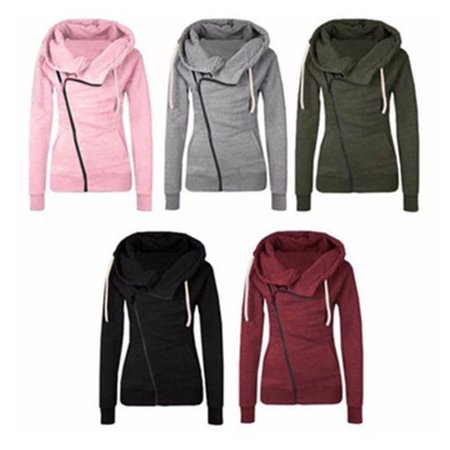 - Womens Cotton Sport Hoody Hoodie Sweater Jumper Coat