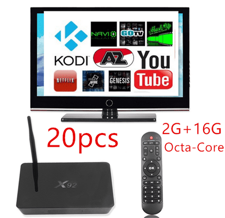 20PCS 16GB Octa-Core X92 Android Fully Loaded Smart Set TV Box Smart