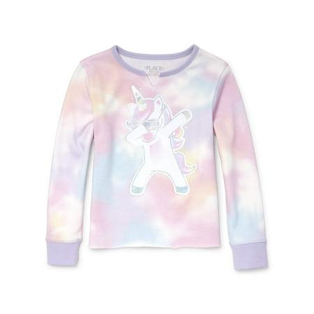 - Dab Unicorn Tie-Dye Sweatshirt (Little Girls & Big Girls)