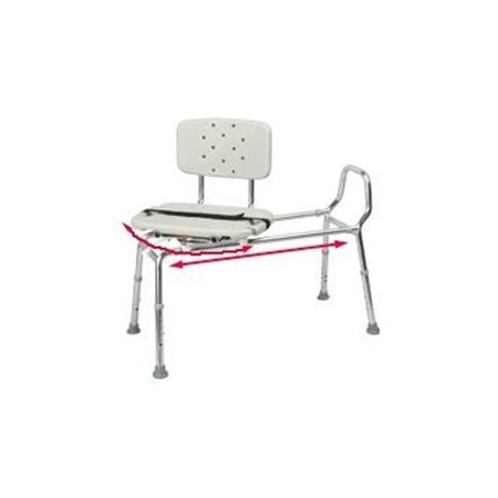 Details about  Snap-N-Save Sliding Transfer Bench 37662 w Swivel Seat Bath Safety Shower