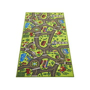 "Large 60"" x 32"" Kids Carpet Playmat Rug- Great For Playing With Cars - Play, Learn And Have Fun Safely"