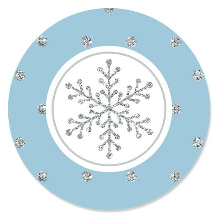 Winter Wonderland - Winter Wedding Circle Sticker Labels - 24 Count](Winter Wonderland Paper)