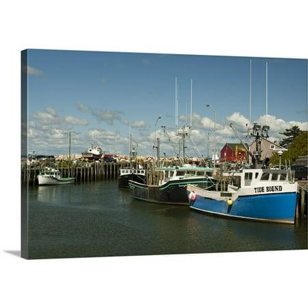 Great Big Canvas Patrick J  Wall Premium Thick Wrap Canvas Entitled Canada  Nova Scotia  Halls Harbour  Bay Of Fundy At High Tide