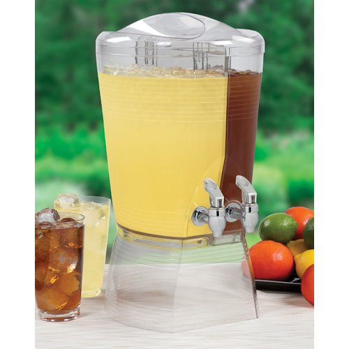 Creative Bath 1.5 Gal Double Beverage Dispenser