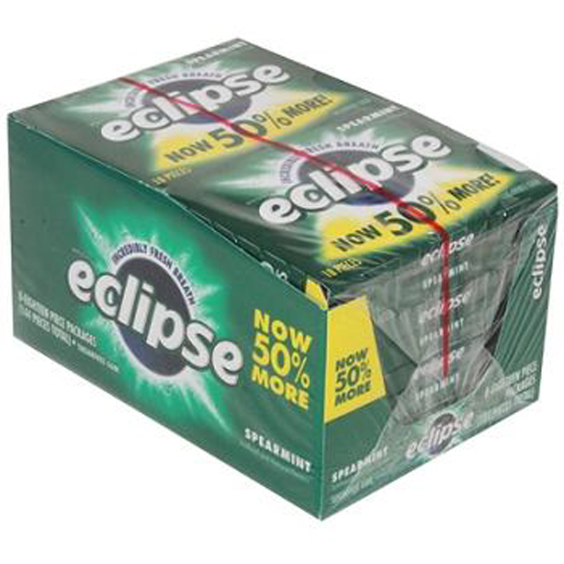 Eclipse Sugarfree Gum Spearmint 18 Pcs Each ( 8 In A Pack )