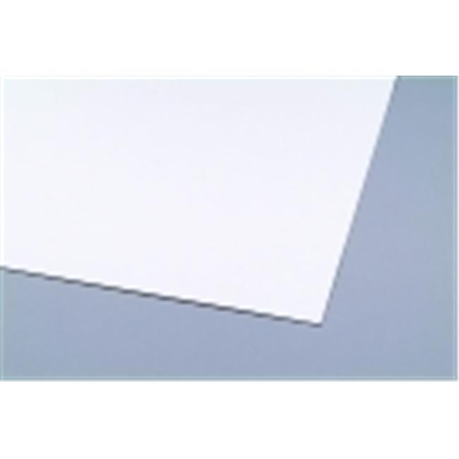 Crescent 28 x 44 in. Non-Bleeding Art Poster Board, 14-Ply Thickness, Satin White, Pack 10 by Crescent