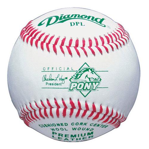 Diamond Pony League Baseball - 12 Pcs