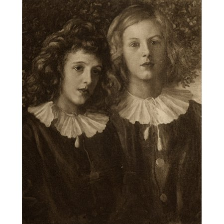 Hallam And Lionel Tennyson From The Picture At Aldworth Painted By GF Watts RAFrom The Book Tennyson A Memoir By His Son Hallam Lord Tennyson Published 1897 Canvas Art - Ken Welsh  Design Pics (26 x