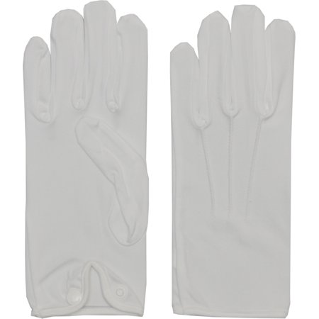 Morris Costumes Gloves Men Nylon With Snap White, Style BA03XL