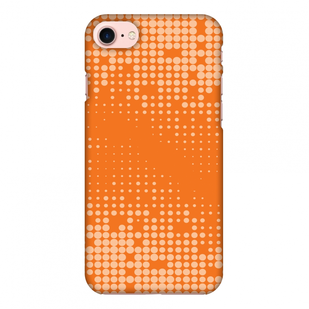 iPhone 7 Case, Premium Handcrafted Designer Hard Shell Snap On Case Printed Back Cover with Screen Cleaning Kit for iPhone 7, Slim, Protective - Carbon Fibre Redux Tangy Orange 11