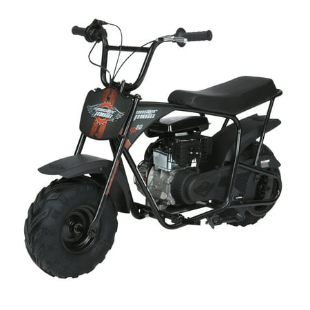 Monster Moto Classic Gas-Powered Mini Bike, Black With Pink And Red (Used Honda 80cc Dirt Bike For Sale)