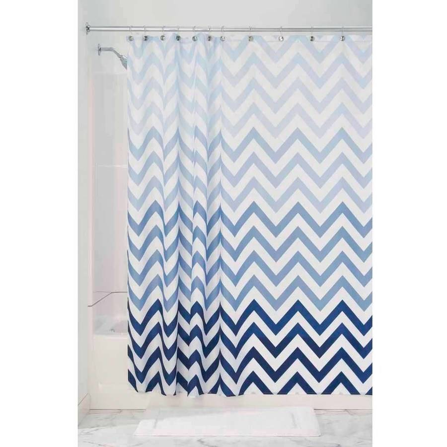 InterDesign Ombre Chevron Shower Curtain Walmartcom