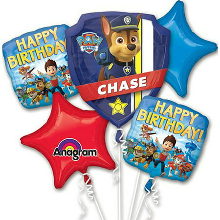 Paw Patrol Character Authentic Licensed Theme Foil Balloon Bouquet - Candy Themed Balloons