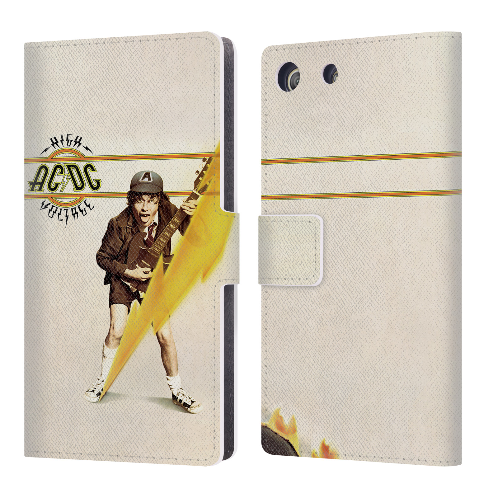 OFFICIAL AC/DC ACDC ALBUM COVER LEATHER BOOK WALLET CASE COVER FOR SONY PHONES 2