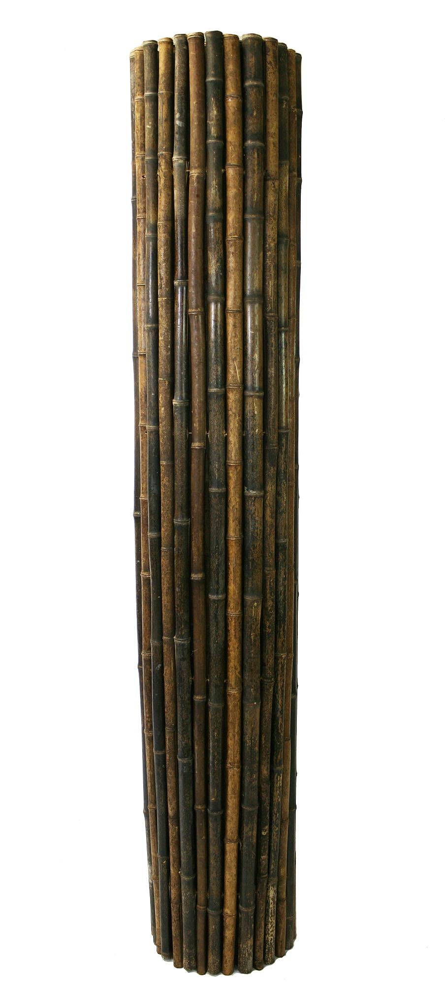 - Backyard X-Scapes Bamboo Fencing, Natural Black - Walmart.com