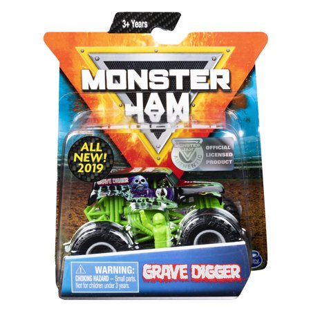 - Monster Jam, Official Grave Digger Monster Truck, Die-Cast Vehicle, Legacy Trucks Series, 1:64 Scale