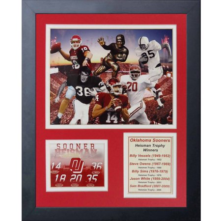 - Legends Never Die Oklahoma Sooners Heisman Trophy Winners Collage, 11-Inch by 14-Inch Framed Photo Collage, 11