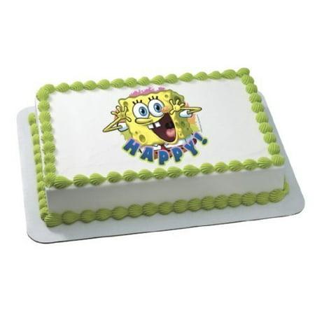 1/4 Sheet Spongebob Happy Edible Frosting Cake Topper*](Spongebob Cake Toppers)