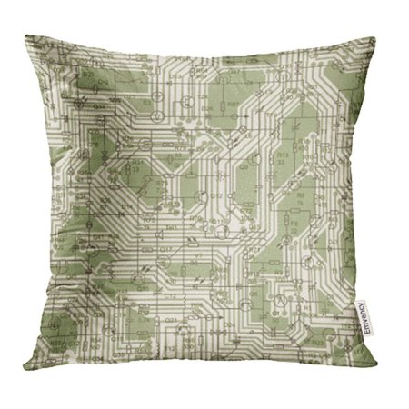CMFUN Electrical Circuit Radio Device Resistance Transistor Diode Capacitor Inductor Pillow Case Pillow Cover 18x18 inch Throw Pillow (Best Diode For Crystal Radio)