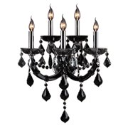 Worldwide Lighting Lyre 5-Light Crystal Wall Sconce