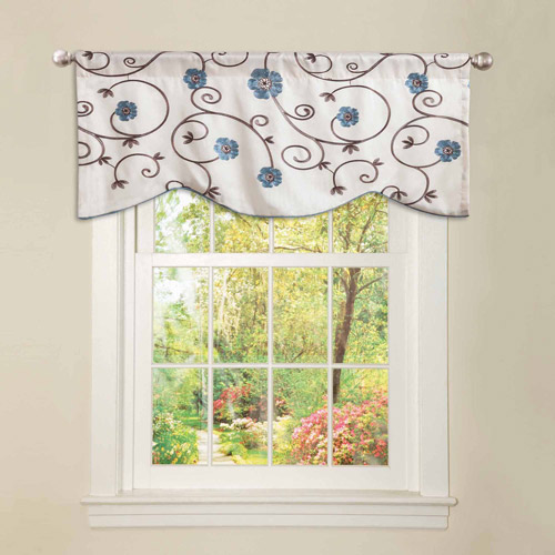 Royal Garden Blue Valance