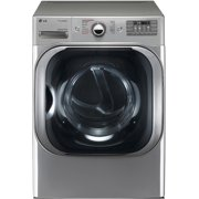 DLEX8100V 29 Front Load Mega Capacity Electric Dryer with 9.0 cu. ft. Capacity  14 Drying Programs  TrueSteam Technology  LoDecibel Quiet Operation  SmartThinQ Technology  and Sensor Dry: Gr