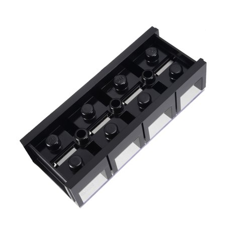 Dual Rows 4 Positions 600V 200A Wire Barrier Block Terminal Strip