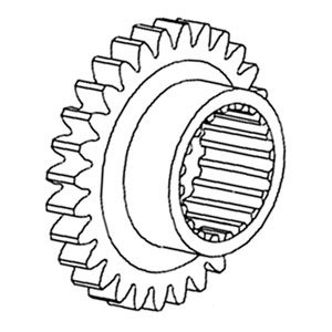 180419M1 New Massey Ferguson Tractor 2nd Transmission Gear