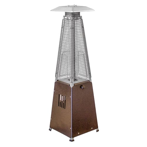 AZ Patio Heater Bronze Portable Glass Tube Tabletop Heater by Patio Heaters