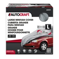 Autocraft Minivan Cover, Grey, Fits Minivans 16'-17.6', Breathable, Non-Abrasive, Dustproof