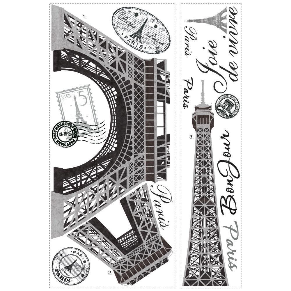 16 dimensions Wall stickers deco sticker eiffel tower-ref 1310