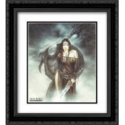 Dragon Spirit 2x Matted 20x24 Black Ornate Framed Art Print by Luis Royo