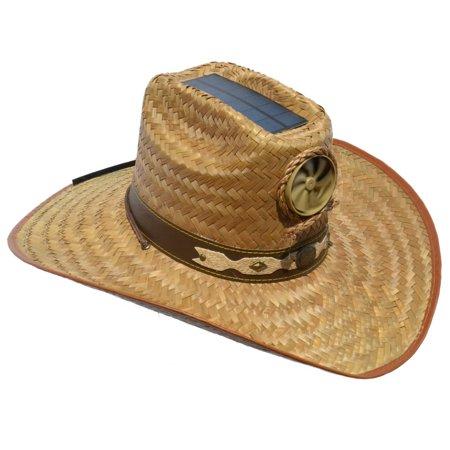 4622d88fd Kool Breeze Solar Cooling Straw Hat - Cowboy (L)