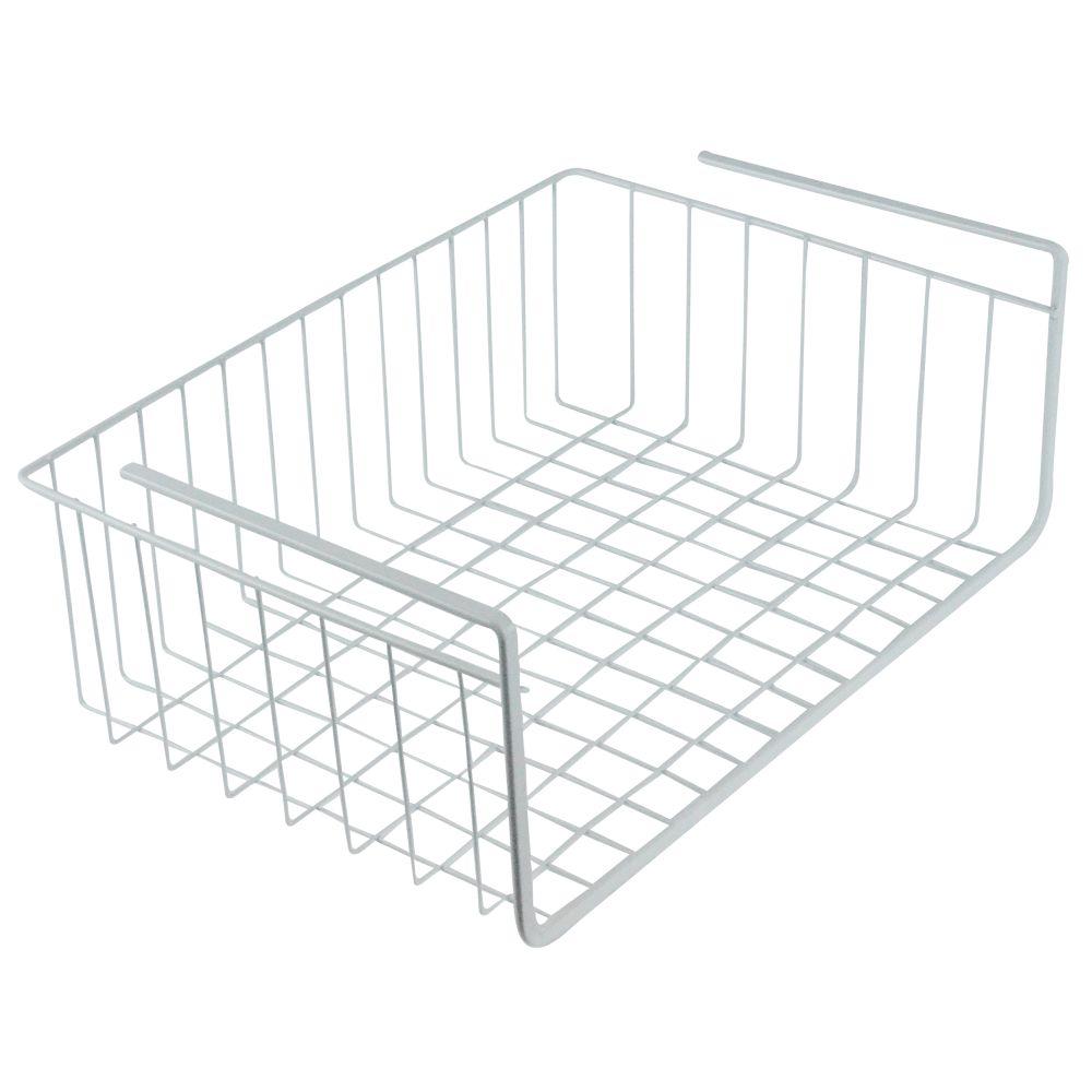 """Southern Homewares White Wire Under Shelf Storage Organization Basket, 15"""""""