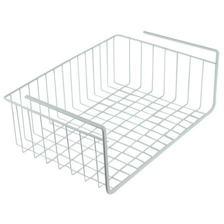 Southern Homewares White Wire Under Shelf Storage Organization Basket, 15