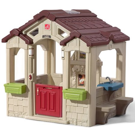 Step2 Charming Cottage Playhouse, Includes Fireplace and - Playhouse Cube
