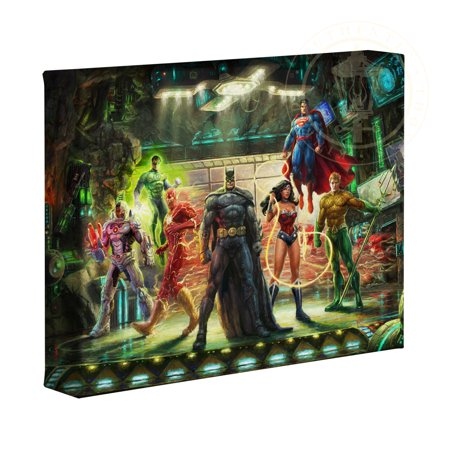 Thomas Kinkade Artwork (Thomas Kinkade Studios DC Super Hero Fine Art The Justice League 8