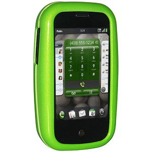 Premium Polished Neon Green Snap On Hard Shell Case for Palm Pre Plus, Sprint Palm Pre, Palm Pre