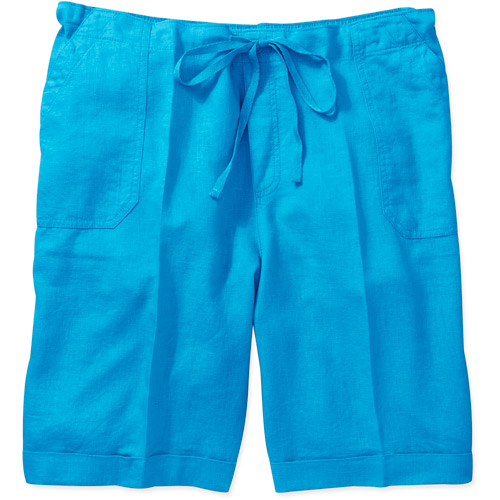 Just My Size Women's Plus-Size Linen Pull-On Shorts