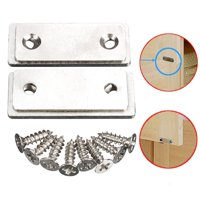 2x Super Thin Door Catch Latch for Furniture Magnetic Cabinet Cupboard Glass