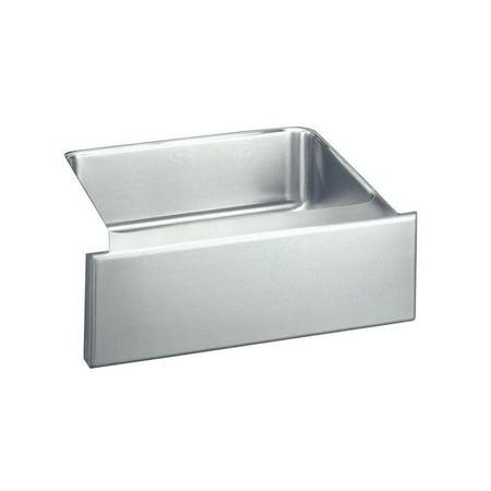 Elkay ELUHF2520 Gourmet Lustertone Stainless Steel Single Bowl Apron Front Undermount Sink