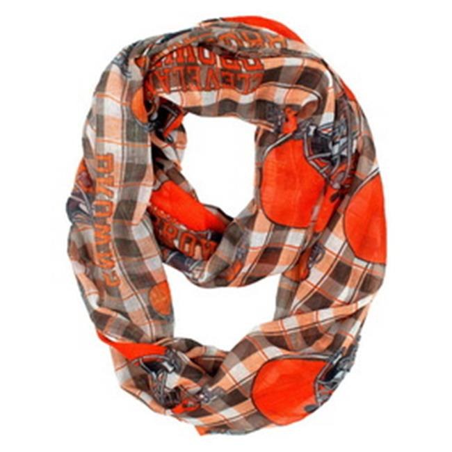 Cleveland Browns Infinity Scarf - Plaid