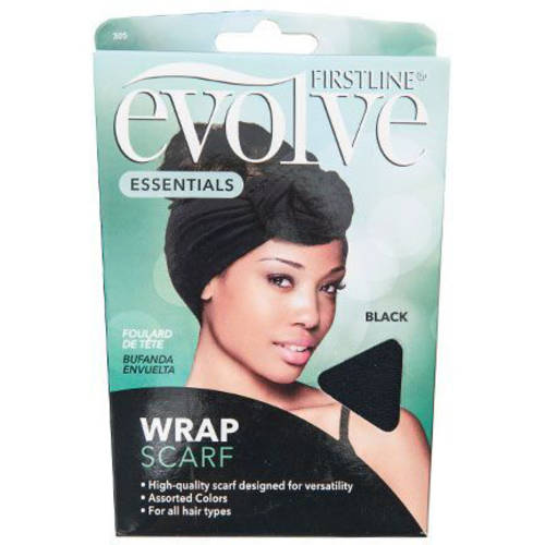 Evolve Wrap Scarf, Black