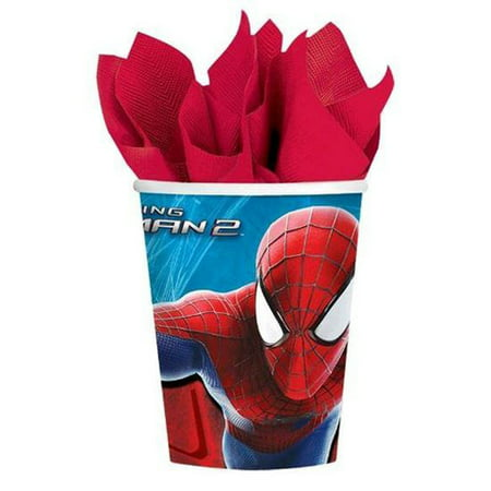 Spiderman Paper Cups (Amazing Spider-Man 2 9oz Paper Cups)