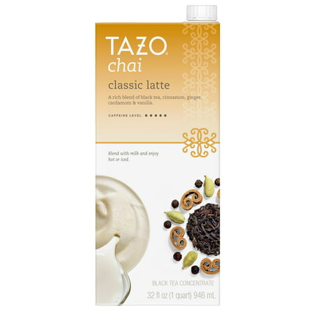(3 Boxes) Tazo Chai Latte Concentrate Black Tea 32 (Energizing Tea)