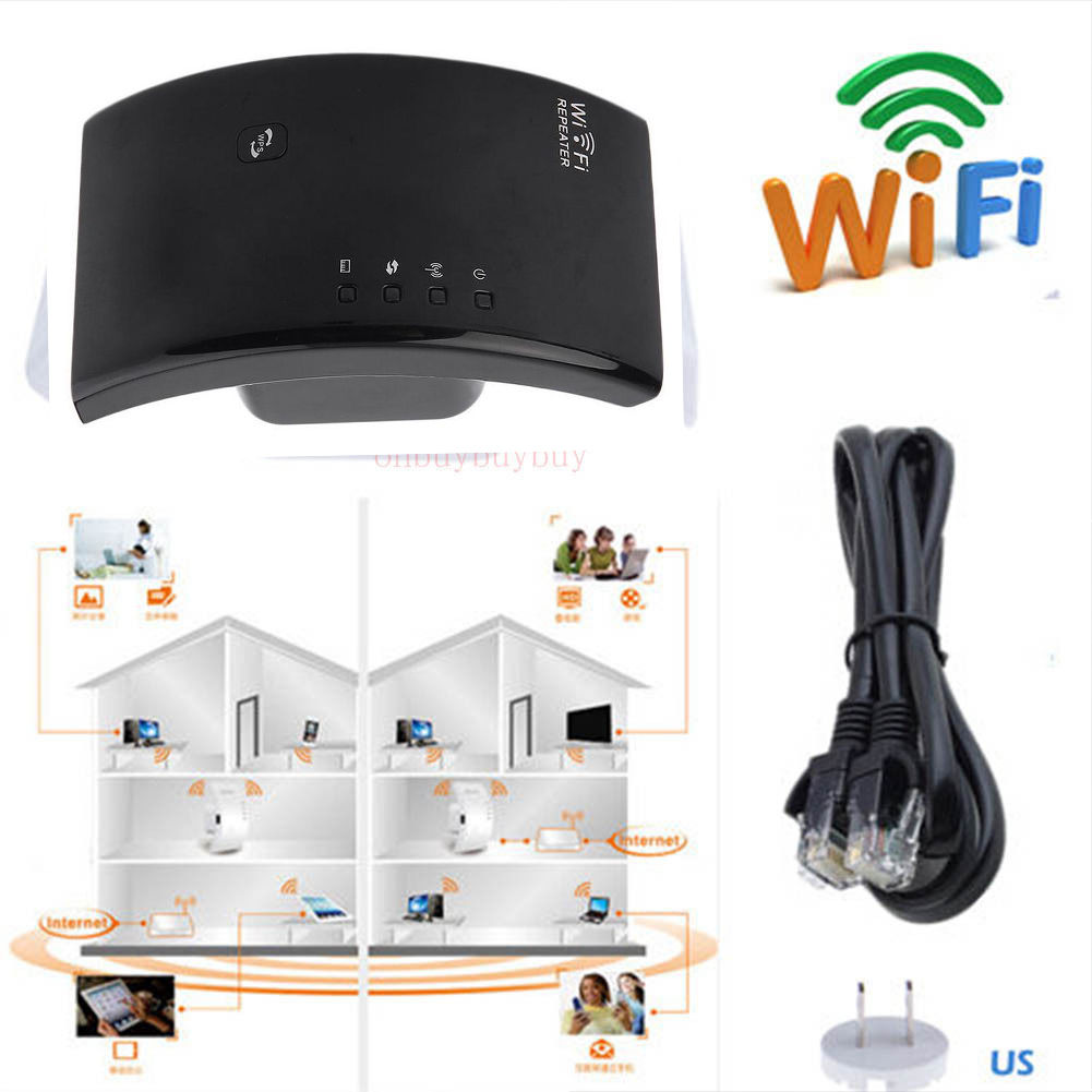 New Support 2.4GHz WLAN Networks 300Mbps Wireless N 802.11 AP Wifi Range Router Repeater Extender Booster RJ-45... by OUTAD