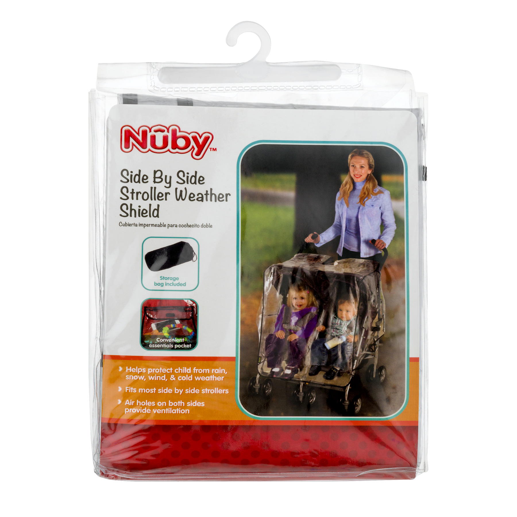 Nuby Side By Side Stroller Weather Shield, 1.0 CT