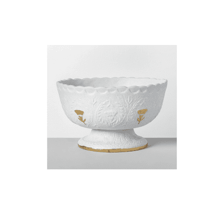 Opalhouse 10.8u0022 x 6.1u0022 Decorative Stoneware Bowl White/Gold