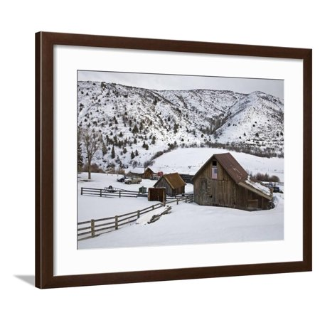 Barn Near Snowmass Village, Aspen Region, Rocky Mountains, Colorado, USA Framed Print Wall Art By Richard Cummins