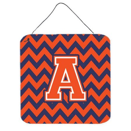 Carolines Treasures CJ1042-ADS66 Letter A Chevron Orange & Blue Wall or Door Hanging Prints, 6 x 0.02 x 6 in. - image 1 of 1